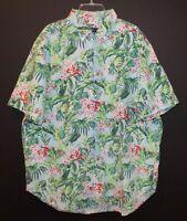 Polo Ralph Lauren Big & Tall Mens Blue Hawaiian S/S Button-Front Shirt NWT 2XLT