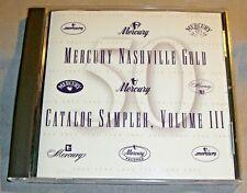 MERCURY NASHVILLE Gold Catalog Sampler CD Vol.Volume III/3 DJ promo album NM/EX+
