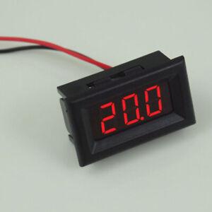 3-Digital Voltmeter LED Display DC 2.5V-30V Voltage Meter Two Wires 3Colors