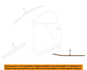 NISSAN OEM Murano-Door Window Sweep-Belt Molding Weatherstrip Right 808205BC0A