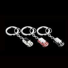 Mini Cooper Miniature Enamel Car Key Chain Ring 80902352309 PEPPER WHITE