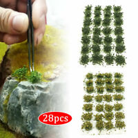 28Pcs Flower Static Grass Tufts Wargames Warhammer Diorama Terrain Scenery Model