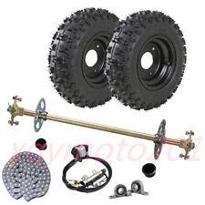 Rear Axle Kit Assembly Hub + 4.10-6 Tire + Brake Assembly + Chain Go kart Trike