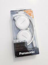 Panasonic RP-HF100M-W Lightweight On-Ear Headphones w/ Microphone White Foldable