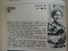 June-1969 TV Guide(DEBUT OF HEE HAW/SAJID  KHAN/ROY CLARK/EVA  GABOR/GREEN ACRES