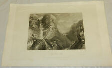 1822 Antique Print/MOSS DALE FALLS, NORTH YORKSHIRE, ENGLAND/13x19""