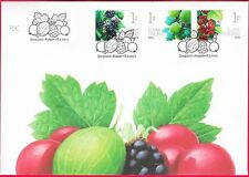 Garden Berries Blackberry Gooseberry and Red Currant Strip Finland FDC 2013
