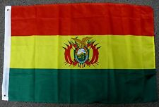 BOLIVIA FLAG 2X3 BOLIVIAN COAT OF ARMS 2'X3'  F1109