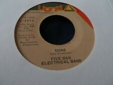 FIVE MAN ELECTRICAL BAND SIGNS/HELLO MELINDA GOODBYE LIONEL 3213 VG+/EX