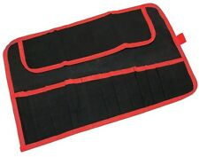 AMTECH NEW 12 POCKET CANVAS TOOL ROLL SPANNER TOOL STORAGE *Water Resistant*