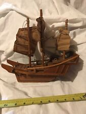 Vintage Wooden Asian Ship Highly Detailed 3 Masts