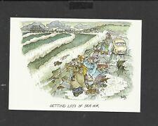 Arthur Dixon Comic postcard Getting lots of sea air Unposted