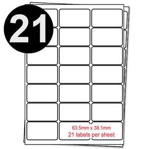 A4 21 labels Per Sheet-Self Adhesive Address Label Peel Copier Laser Printer UK