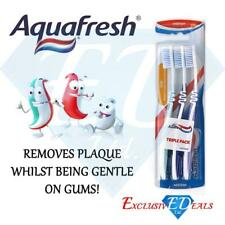Aquafresh Triple Pack Medium Flex Toothbrush Remove Plaque Gentle on Gums 3 Pack