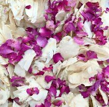 Biodegradable Wedding Confetti Ivory PINK Rose Mix Petal Dried Flutterfal Flower