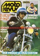 MOTO REVUE 2754 YAMAHA XV 1000 Virago TY 250 S YZ 125 ; HONDA NS 250 R NSR 1986