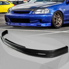 For Honda Civic EK 2/3/4DR Mug-en Style Polyurethane Black Front Bumper Lip Wing