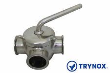 """Tri Clamp Sanitary Stainless Steel 304 1"""" Plug Valve Trynox"""