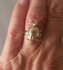 14K Tri-Gold Articulated Turtle Ring FREE SIZING! ! !