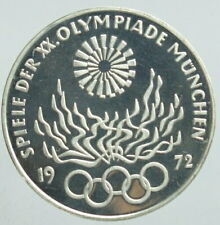 1972 Germany Munich Olympic 5th 10 Mark Silver Coin Proof From Japan Rare F1