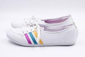 ADIDAS NEO Damen Ballerina Sneaker EUR 40 UK 6,5 US 8 Weiß Freizeitschuhe