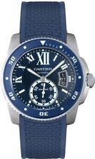WSCA0011 | BRAND NEW CARTIER CALIBRE DE DIVER STEEL MENS WATCH W/ BLUE STRAP