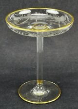 "Antique Bohemian Moser crystal compote / cake stand   7 ¼"" tall,  (BI#MK/180424)"