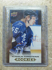 14-15 UD Masterpieces #173 Rookies RC VLADISLAV NAMESTNIKOV Autograph