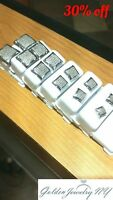 Solid Man 10K White Gold Micro-Pave Earrings Genuine Diamond (TCW) 0.10 - 0.75