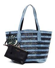 NWT Marc Jacobs Wingman Blue Denim Sequin Shoulder Bag Tote New ($595)