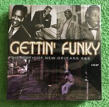 RARE NEW SEALED GETTIN' FUNKY: BIRTH OF NEW ORLEANS R&B 4 CD BOX & FREE GIFT!