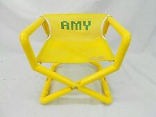 "TYKE-HIKE, CHILD'S FOLDING CHAIR, YELLOW MESH, PERSONALIZED ""AMY"""