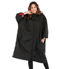 Insulated Windbreaker Unisex Outdoor Long Hooded Anorak Thermal Fleece Lined