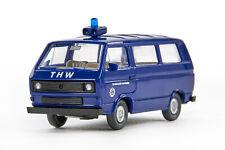 Lot 5538 Wiking VW T3 Kombiwagen THW, hellstahlblau/schwarz, 1989-1992, OVP