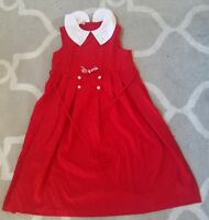Vintage Bonnie Jean Red Dress Sz 12 Great Condition Made Usa