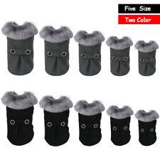 Warm Dog Coat Clothes Warm Pet Jacket Fur Trimmed Dog Clothing for Winter