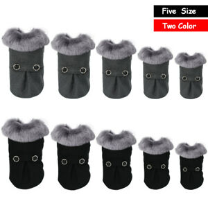 Warm Dog Coat Clothes Warm Pet Jacket Fur Trimmed Dog Clothing for Winter