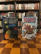 Terry Pratchett THE COLOUR OF MAGIC & LIGHT FANTASTIC - Hill House UK 1st HB