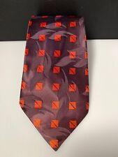 Vintage Men's Tie Hollyvogue Resilient California Kerner's Deep Plumb & Orange