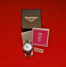 JUICY COUTURE BLACK LABEL WOMEN'S PEDIGREE CHRONOGRAPH SILVER/STAINLESS WATCH