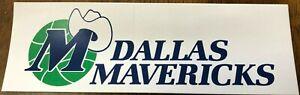 "Dallas Mavericks Bumper Sticker 3"" x 9"" NBA Early 90's Team Gift EXTREMELY RARE"