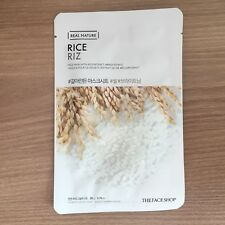 1SHEET THE FACE SHOP REAL NATURE RICE BRIGHTENING FACE MASK PACK