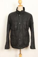 Mens BARBOUR New Utility WAXED Jacket Black Size Medium