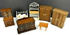 Vintage Wood & Metal Doll House Furniture, Concord & Other 1:12 & 1:16 Mixed Lot