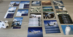 Collection Of 40x Luthansa - Postcards - Plus Toy Airplane (Soft Toy - 13cms)