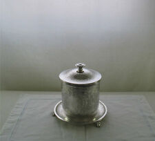 Silver Round Biscuit Box Embossed