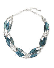 EAST Freshwater Pearl & Bead Multi Strand Necklace in Teal
