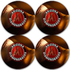 Arizona Diamondbacks Baseball Rubber Round Coaster set (4 pack) / RNDRBRCSTR2000
