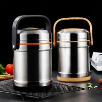 Thermal Lunch Box Stainless Steel Double Layer Portable Vacuum Food Container