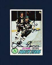 Lou Nanne signed Minnesota North Stars 1977-78 Topps hockey card